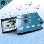 Puzzle  Grafika-00572 Blaue Sortierkästen im 3er Set