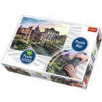 Trefl-90723 Puzzle Matte + Puzzle - Italien